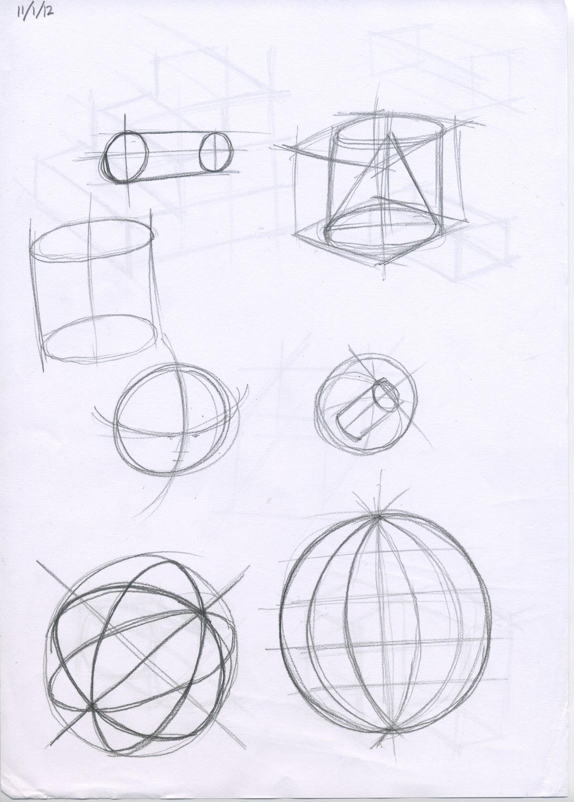 Geometric Life Drawing Geometric Drawing