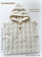 knit patterns, how to knit, poncho with hood, toddler, child,