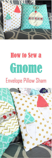 How to Sew a Gnome Pillow Envelope Pillow Sham
