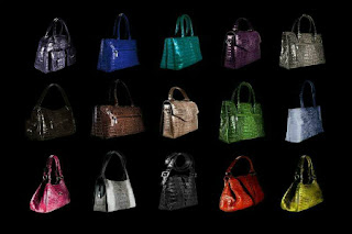 Crocodile leather bag models
