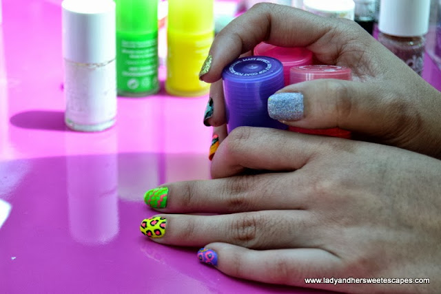 Fancy Nail Art with Models Own Nail Polish