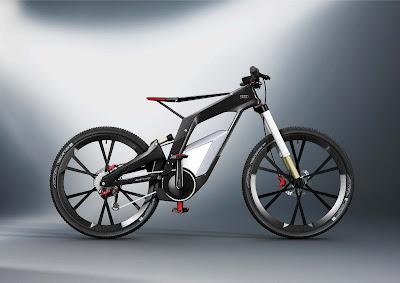Cool Design Electric Bike Audi e-Bike HD Wallpaper