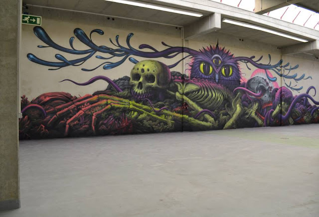 Street Art Collaboration By Jeff Soto And Maxx242 For Goodbye Monopol 2 In Luxembourg City. 2