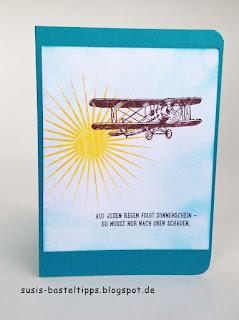 Sale a bration stampin up 2016 auf und davon stempelset und kinda eclectic Ermutigungskarte mit spruch aus spenden-set fuer ronald mcdonald stiftung