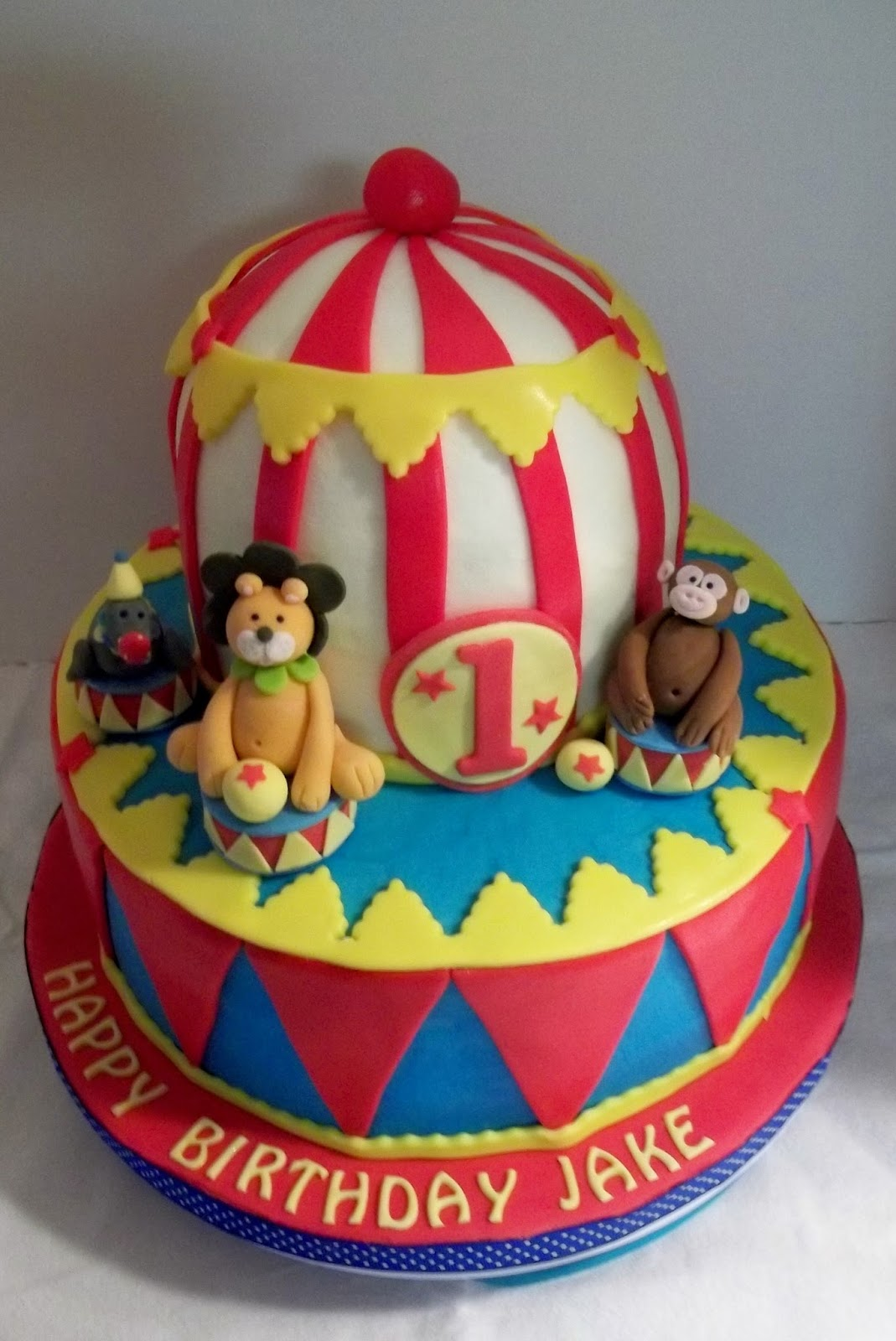 Bobbies Cakes And Cookies A Circus Birthday Cake