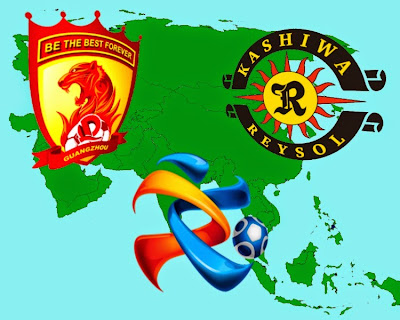 Semifinal of the Champions League AFC between Guangzhou Evergrande and Kashiwa Reysol.