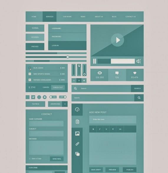 Responsive UI Kit (PSD)