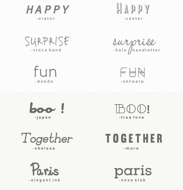 skrifttyper til word