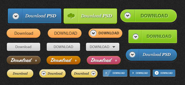 FREE PSD Download Button