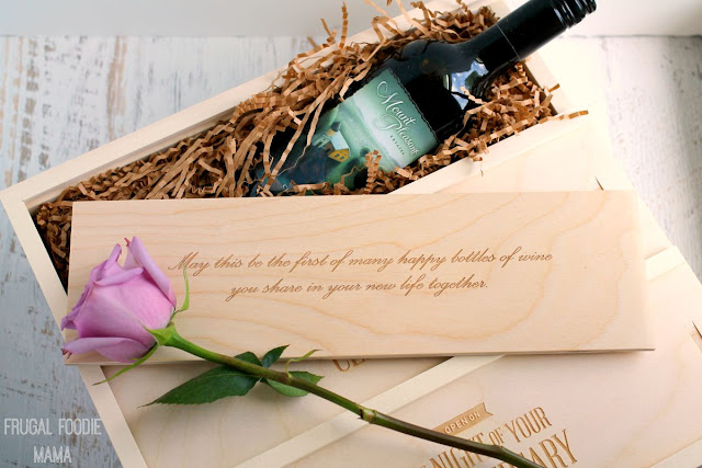 Looking for a unique wedding or anniversary gift for that wine loving couple? Come check out my review of the WineforaWedding box! #ad