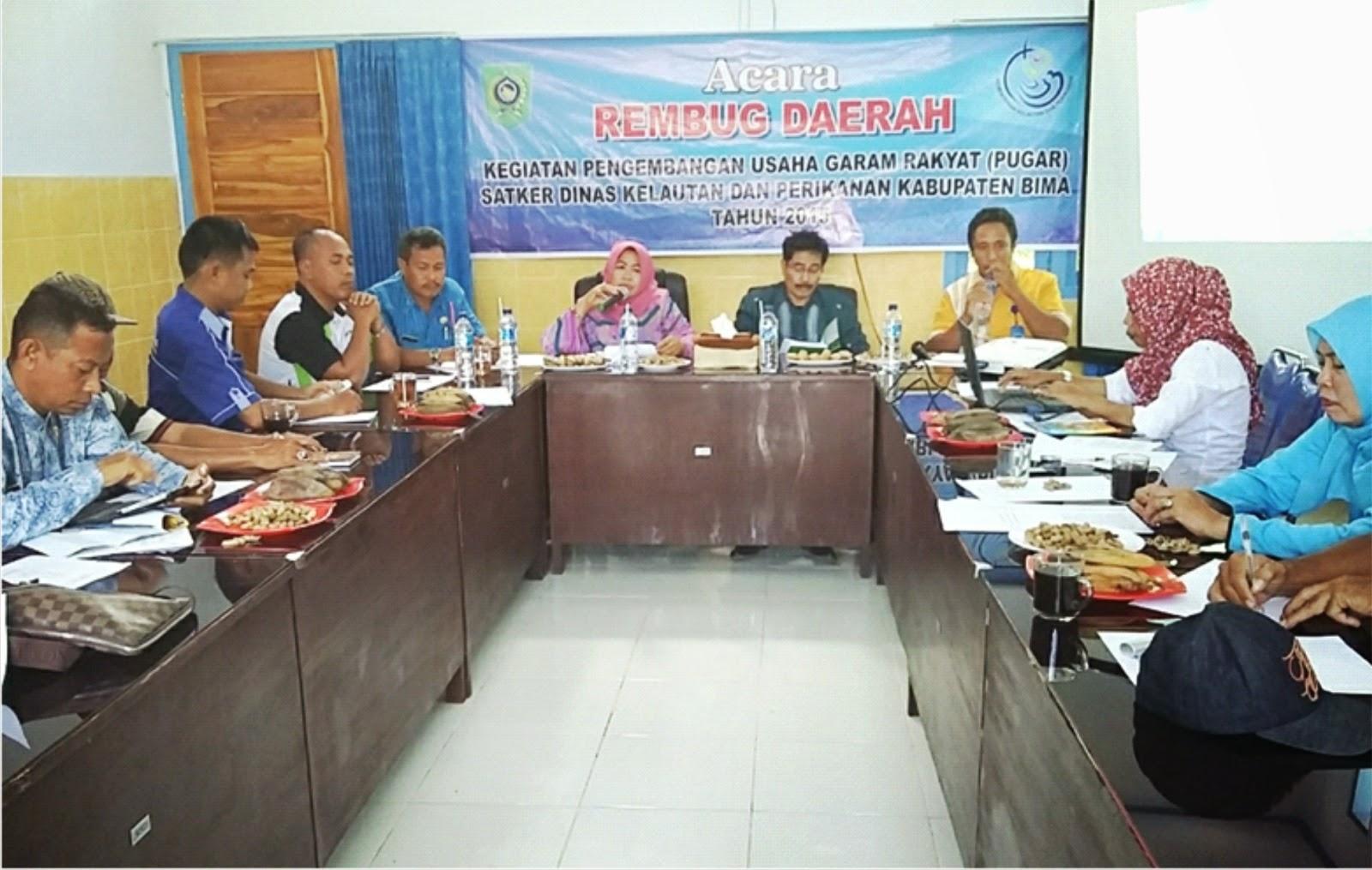 Awali Program PUGAR, DKP Kabupaten Bima Helat Rembug