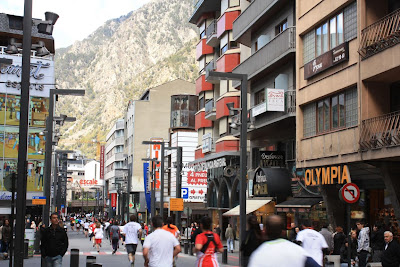 Shopping street of Andorra La Vella