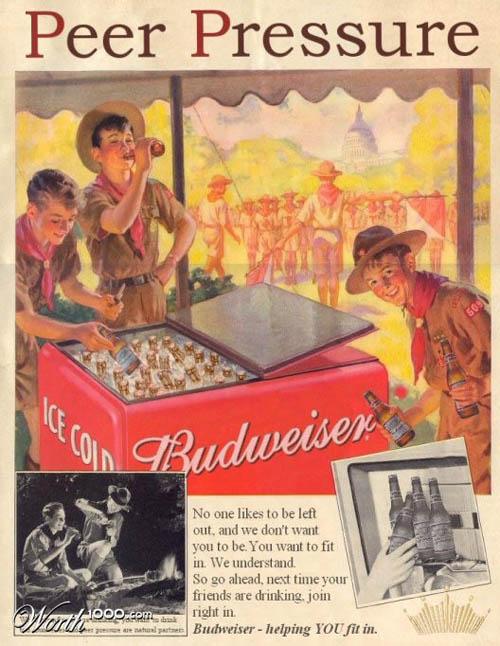 anúncios vintage - produtos modernos - Budweiser