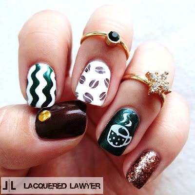 Coffee Nail Art
