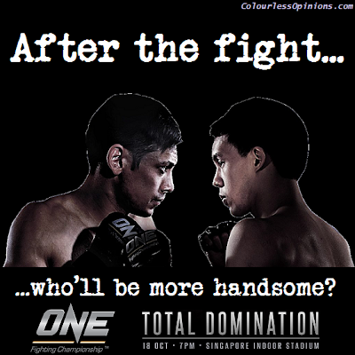 Peter Davis vs. Eddie Ng ONE FC Total Domination poster handsome meme