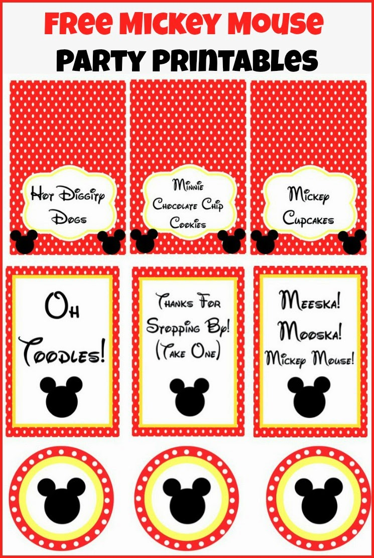 Mickey Mouse Clubhouse Party Ideas & Free Printables