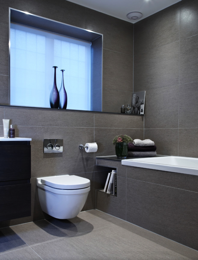 Construindo Minha Casa Clean Vasos Sanitários Suspensos! Veja Banheiros e La -> Decoracao Banheiro Vaso Sanitario Preto
