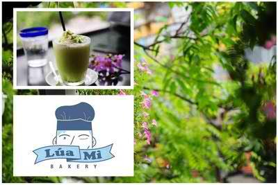 Mát lạnh trà xanh kem tươi tại Lúa Mì Bakery, ẩm thực, địa chỉ ẩm thực, ha noi am thuc, dia diem an uong, thuc uong bo duong, diemanuong365, mon ngon de lam, cafe take away