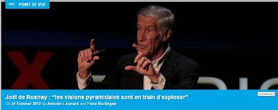 """Joël de Rosnay """"Les visions pyramidales sont en train d'exploser"""""""