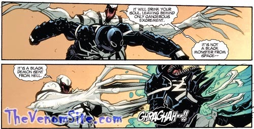 Relive the Anti-Venom versus Agent Venom fight in Spider-Island