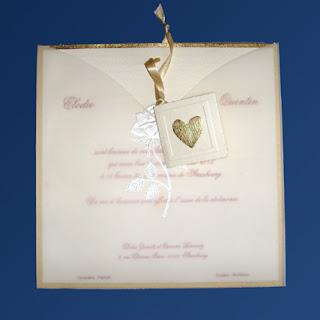 Invitación para boda en albanene