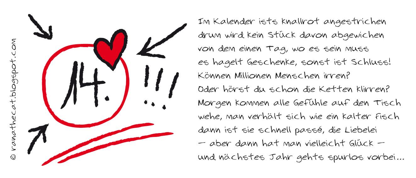 Hmm, Ich Merk Schon, Meine Gedichte In Diesem Jahr Sind Nix Für Frisch  Verliebte.