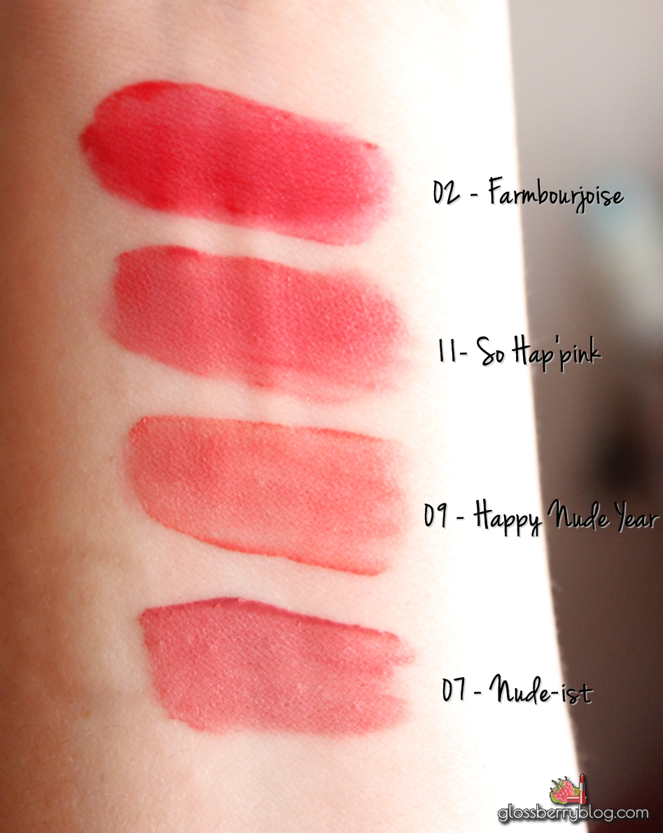 Bourjois Rouge Edition Velvet Lipstick- 11 - So Hap'Pink hap pink hap-pink rose pink review swatches comparison vs nude-ist happy nude year frambourjois 11 07 02 04 05 06שפתון  מאט עמיד בורז'ואה חדש ורוד  גלוסברי בלוג איפור וטיפוח glossberry blog  matte