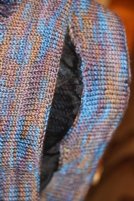 резинка отвротом в вязаной юбке