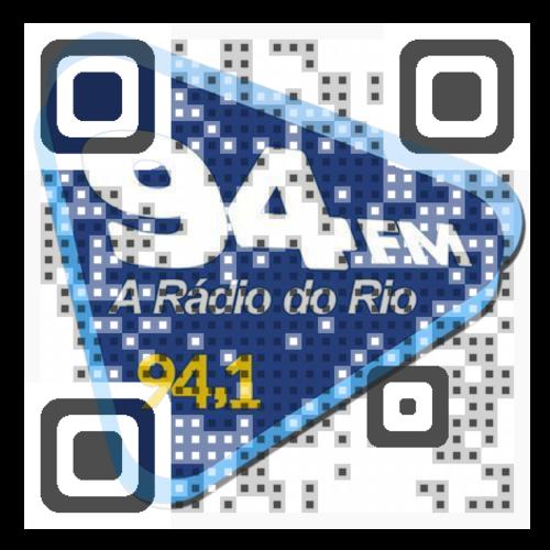 Use seu leitor de código para ouvir  a 94 FM Rio em seu celular.