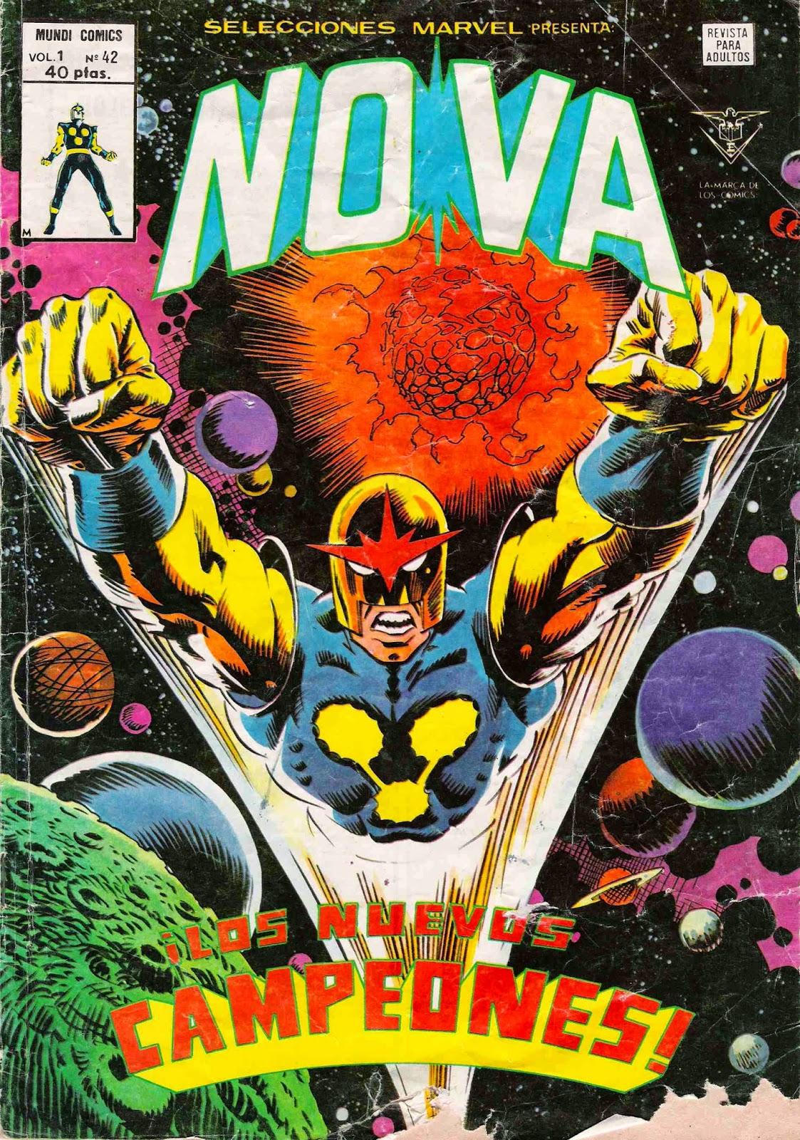 Portada de Nova-Selecciones Marvel Volumen 1 Nº 42 Ediciones Vértice