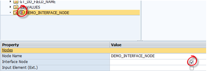 Interface Node in Webdynpro ABAP