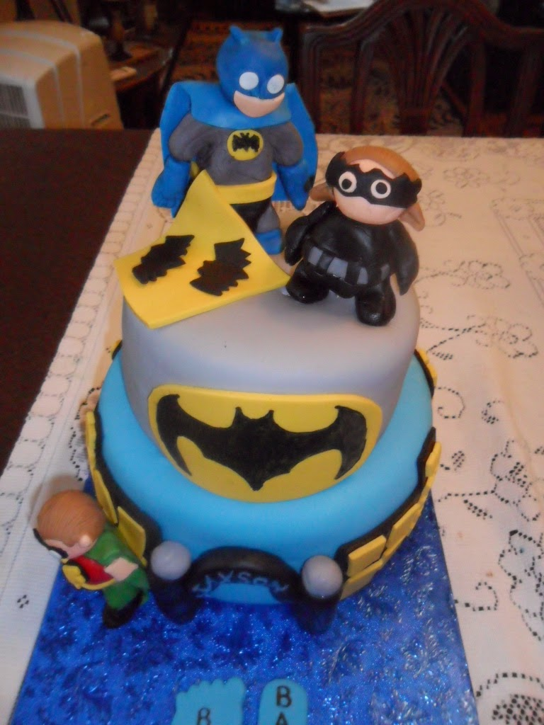 larry the cake guy batman baby shower cake cupcakes