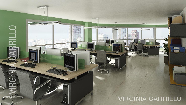 Arquitectura en im genes 3d interior oficinas edificio for Oficina de correos cordoba