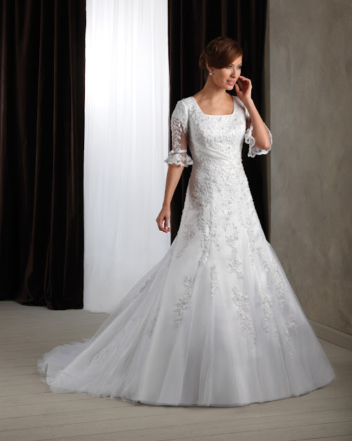 Blog the fall 2011 collection is here brand new wedding for Modest elegant wedding dresses
