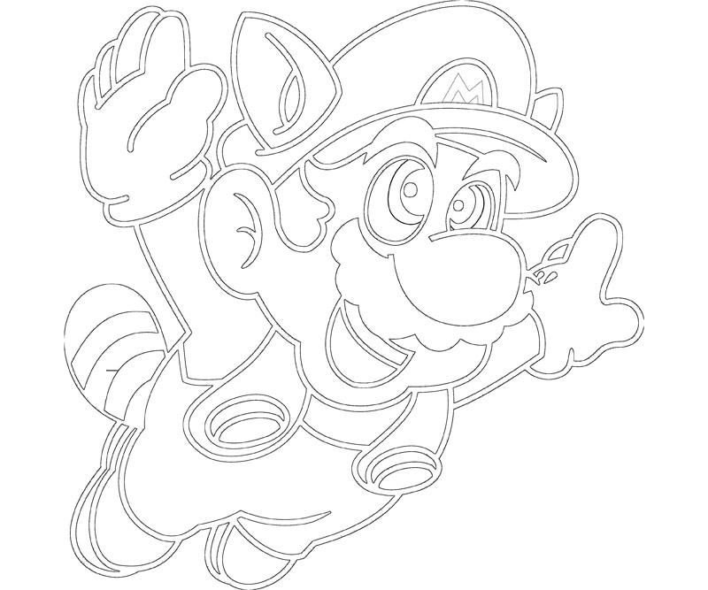 #18 Super Mario Coloring Page