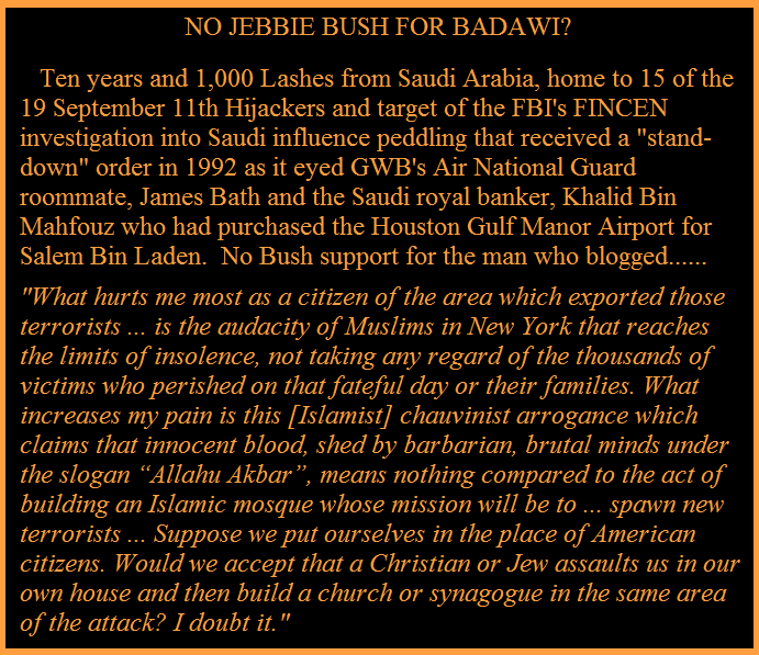 BUSH/SAUDI SILENCE DEAFENING