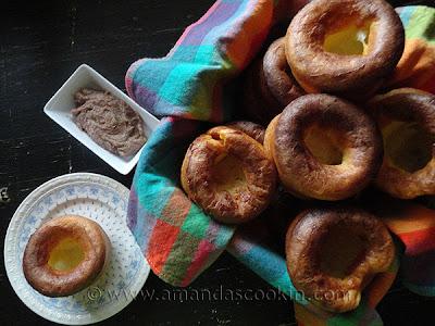 popovers, recipe, cinnamon butter, breakfast, bake, brunch