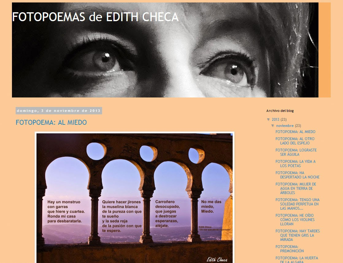 FOTOPOEMAS DE EDITH CHECA