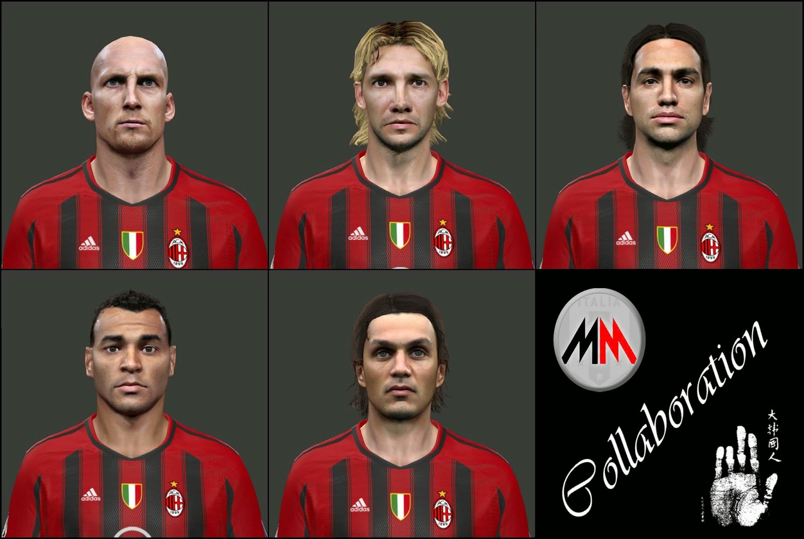 PES 2014 Classic milan facepack by Mariomilan & So-Yul
