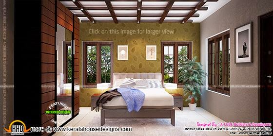 Tamilnadu model small budget house for Bedroom designs tamilnadu