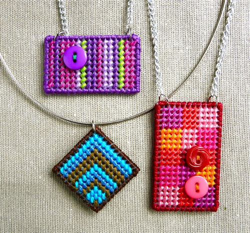 How to embroider pendants using plastic canvas the beading gems diane over at craftypod designed and wrote this tutorial on how to embroider pendants using plastic canvas she particularly likes using plastic canvas for mozeypictures Choice Image