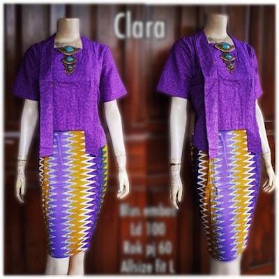 Kebaya Batik Modern Clara KBW303