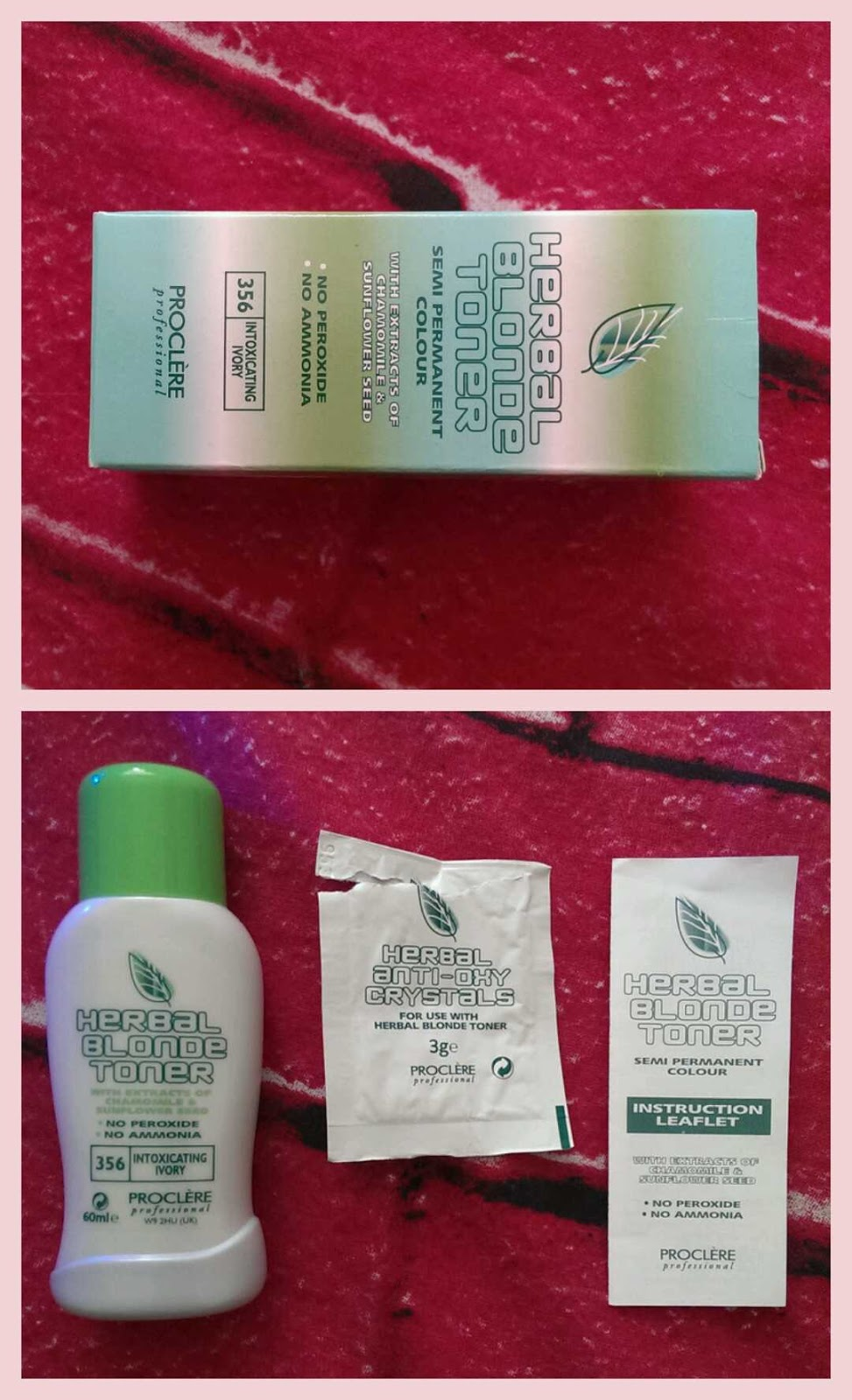 Lost Found Proclre Herbal Toner Review 60ml The Itself Comes In A Bottle Along With Sachet Of Anti Oxy Crystals That You Pop Into It Is Recommended Use These If Have