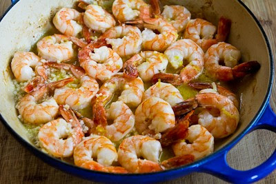 Easy Low-Carb Garlic and Lemon Shrimp [KalynsKitchen.com]