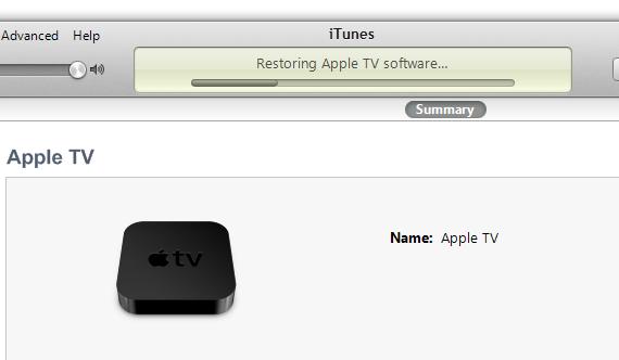 iTunes restore FIRMWARE