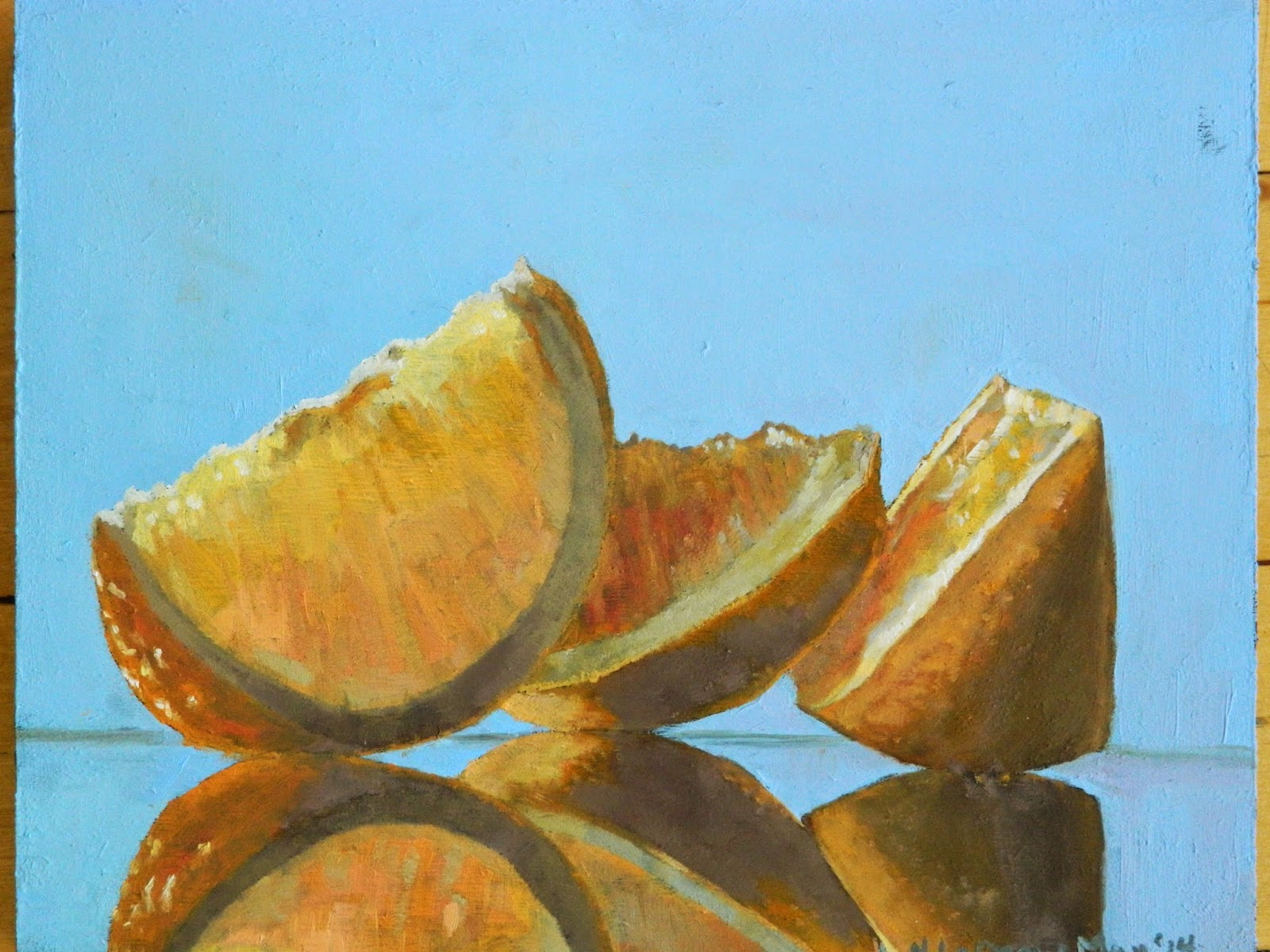 oranges oil painting