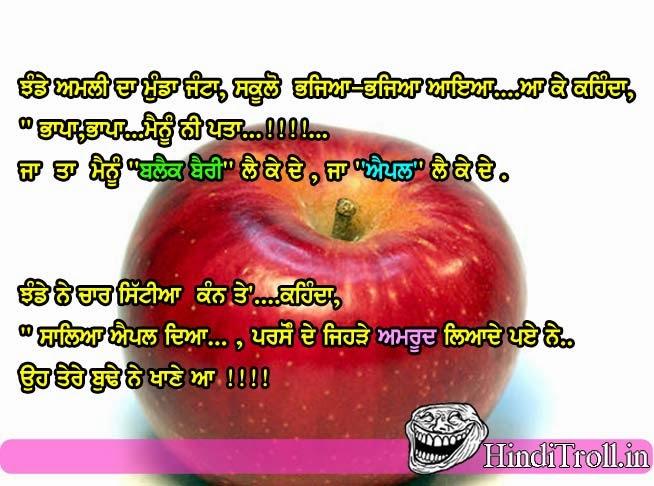 jhande amli da munda funny punjabi joke wallpaper
