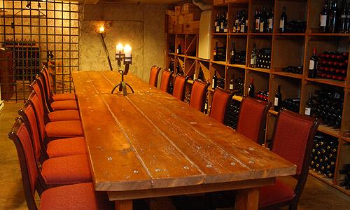 Rustic Wine Cellar Dining Room