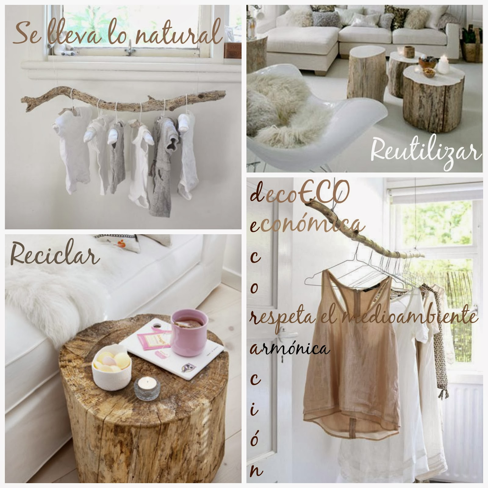 decoracin con ramas naturales