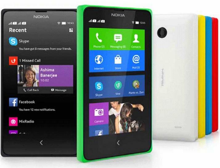 Nokia X pelbagai warna